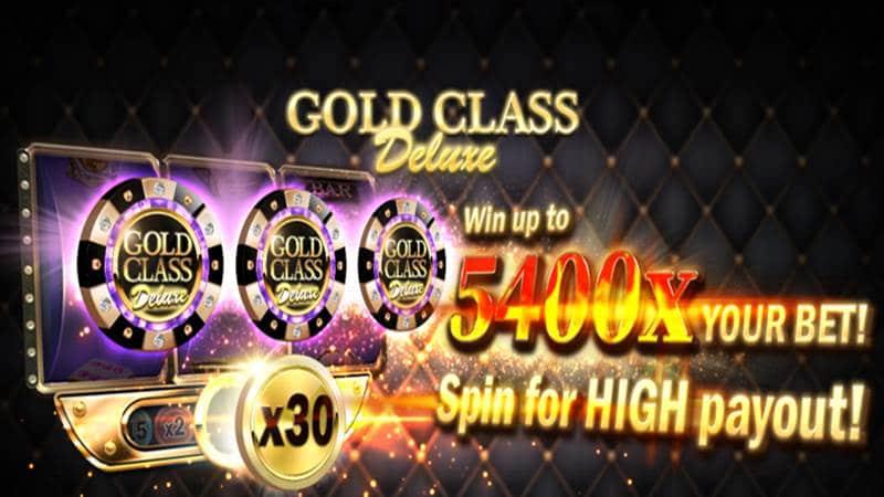 รีวิวเกมสล็อต Gold Classic Deluxe เล่นง่ายใช้ทุนต่ำ โบนัสสูงสุด 5,400 เท่า