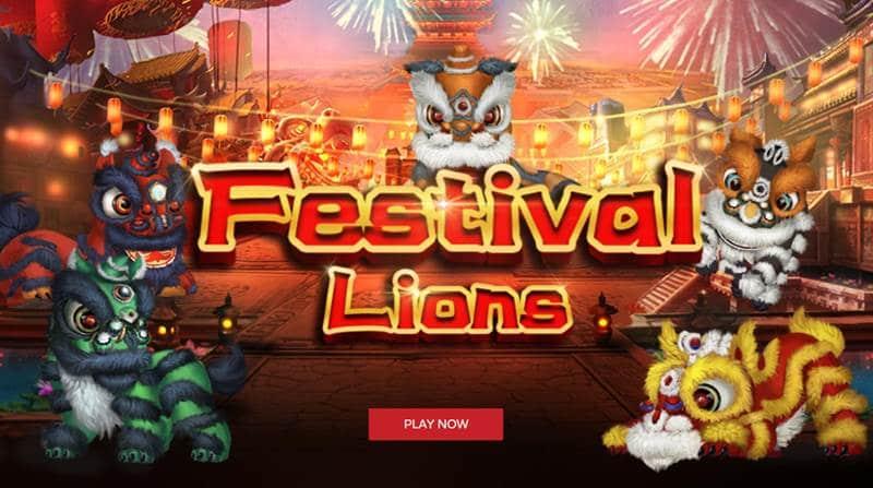 Festival Lions เกมส์สิงโตเชิด เล่นได้เงินทุนคืน ทำกำไรมหาศาล
