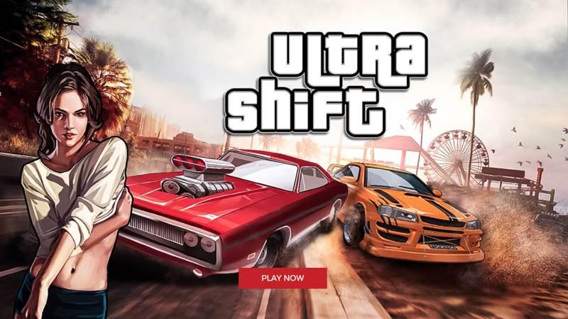 Ultra Shift สล็อตออนไลน์ Xingame เกมส์ฟาสต์แข่งรถสไตล์ GTA