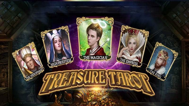 Treasure Tarot สล็อตไพ่ทาโรต์ เกมส์ดูดวงโดยค่าย Xin Gaming