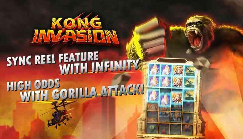 รีวิวเกมใหม่ Kong Invasion สล็อตแนวตั้ง xin game แจ็คพอตแตกได้เงินดี